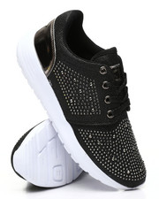 Footwear - Studded Lace-Up Sneakers-2436508