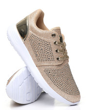 Footwear - Studded Lace-Up Sneakers-2436489