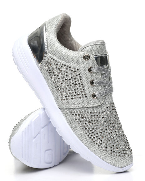 Fashion Lab - Studded Lace-Up Sneakers