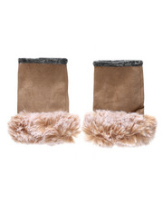 Stocking Stuffers Men - Fingerless Gloves W/ Faux Fur Trim-2438437