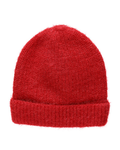 Fashion Lab - Solid Color Textured Beanie