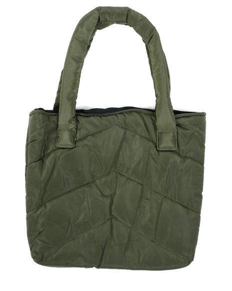 Fashion Lab - Solid Color Puffer Tote Bag