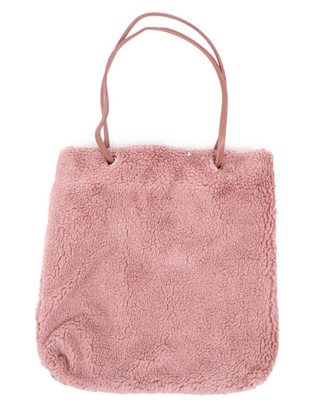 Fashion Lab - Teddy Textured Tote Bag