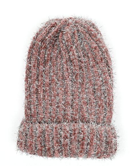 Fashion Lab - Metallic Knitted Beanie