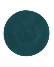 Fashion Lab - Solid Color Stretchy Knitted Beret-2438379