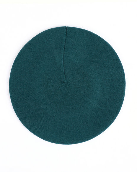 Fashion Lab - Solid Color Stretchy Knitted Beret