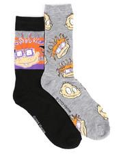 Stocking Stuffers Men - Rugrats 2 Pack Crew Socks-2437107