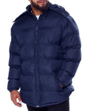 Big & Tall Faves - 3/4 Padded Coat W/Fleece Lining (B&T)-2440260