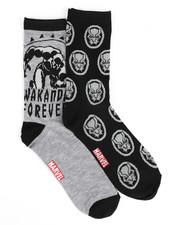 Stocking Stuffers Men - Heather Wakanda 2 Pack Crew Socks-2437007