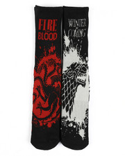 Stocking Stuffers Men - Winter Coming 2 Pair Crew Socks-2436891