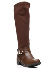 Footwear - Stretchy Riding Boots-2438402