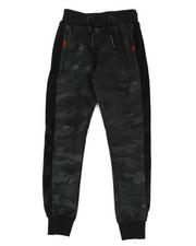 Track Pants - Camo Print W/Faux Fur Strip Joggers (8-18)-2439979