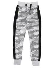 Track Pants - Camo Print W/Faux Fur Strip Joggers (8-18)-2439949