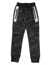 Activewear - Camo Print Joggers W/ Zippers (8-20)-2439446