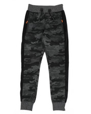 Track Pants - Camo Print W/Faux Fur Strip Joggers (8-18)-2439526