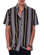 Button-downs - Greek Key Stripe SS Woven Shirt-2440691