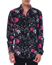 Mens-Holiday - Floral LS Woven Shirt-2440656