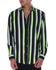 Mens-Holiday - Neon Stripe LS Woven Shirt-2440672