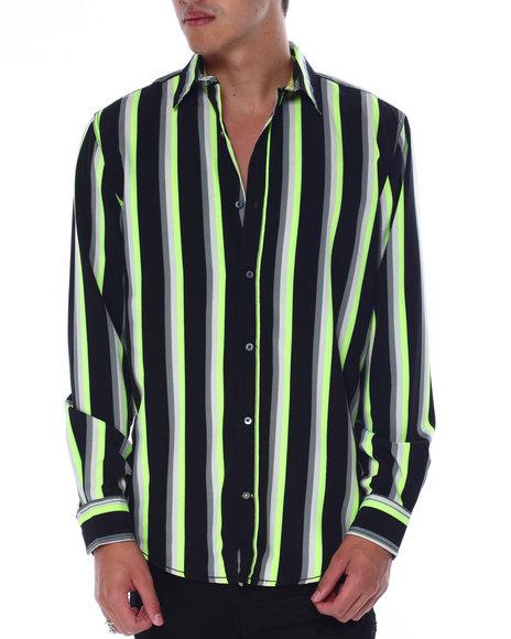 Buyers Picks - Neon Stripe LS Woven Shirt