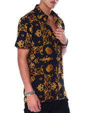 Mens-Holiday - Lion and Filigree SS Woven Shirt-2440696