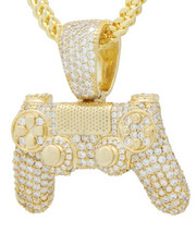 Jewelry & Watches - Iced Classic Controller Necklace-2440592