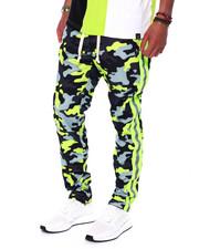 Pants - Camo Reflective Tape Track Pant -Lime-2440053