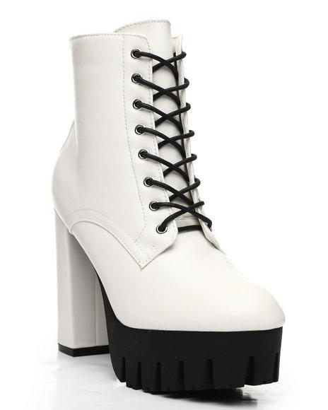 Fashion Lab - Lace-Up Lug Bottom Boots