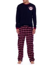 Ecko - 2 Piece Long Sleeve Knit Henley & Flannel Pant-2437354