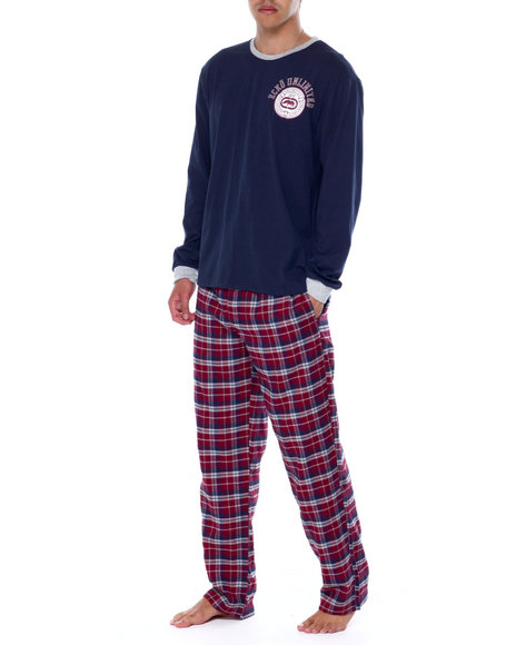 Ecko - L/S Crew With Flannel Pant & Flannel Boxer Gift Set