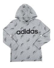 Adidas - Long Sleeve Hooded Ht Print Linear Tee (8-20)-2436321