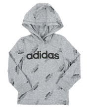 Adidas - Long Sleeve Hooded Ht Print Linear Tee (2T-4T)-2436313