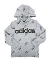 Adidas - Long Sleeve Hooded Ht Print Linear Tee (4-7)-2436316