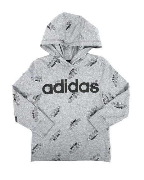 Adidas - Long Sleeve Hooded Ht Print Linear Tee (4-7)