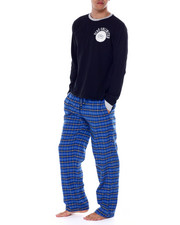 Ecko - 2 Piece Long Sleeve Knit Henley & Flannel Pant-2437502