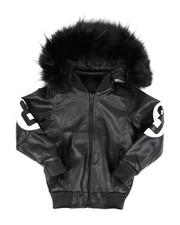 Heavy Coats - 8 Ball Hooded Jacket W/ Faux Fur (8-20)-2438067