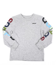 Adidas - Long Sleeve Linear Tee (4-7)-2435702