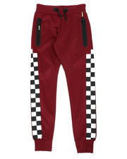 Arcade Styles - Checkered Pattern Jogger Pants (8-20)-2439208