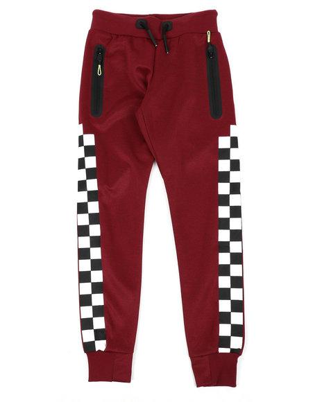 Arcade Styles - Checkered Pattern Jogger Pants (8-20)