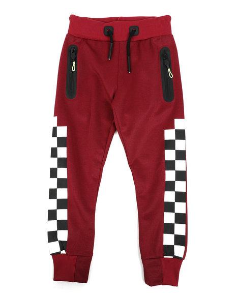 Arcade Styles - Checkered Pattern Jogger Pants (4-7)