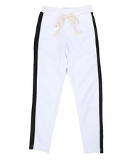 Activewear - Poly Double Jersey Open Bottom Pants W/ Tape (8-20)-2440547