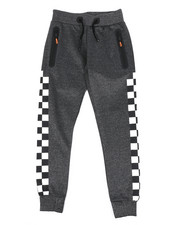 Arcade Styles - Checkered Pattern Jogger Pants (8-20)-2439238