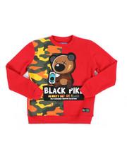 Sizes 8-20 - Big Kids - Fleece Crew Neck W/ Patch (8-20)-2440526