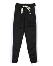 Activewear - Poly Double Jersey Open Bottom Pants W/ Tape (8-20)-2440552