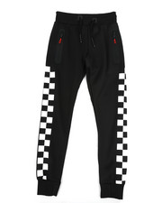 Arcade Styles - Checkered Pattern Jogger Pants (8-20)-2439213