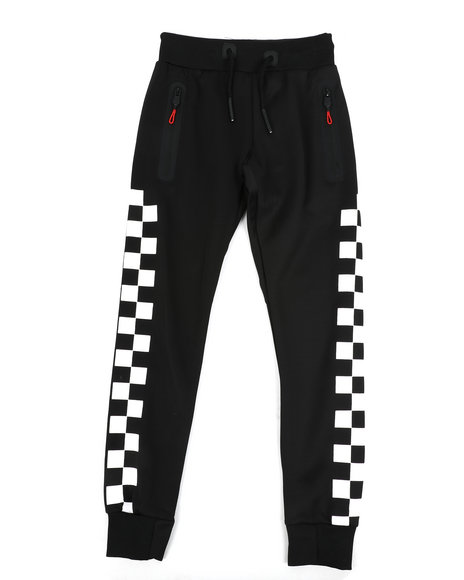 Arcade Styles - Checkered Pattern Jogger Pants (8-20)