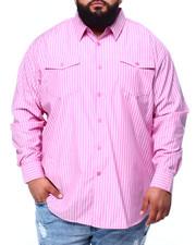 Men - Yarn Dyed Stripe L/S Woven (B&T)-2439464
