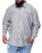 Men - Yarn Dyed Stripe L/S Woven (B&T)-2439442