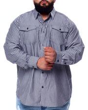 Big & Tall - Yarn Dyed Stripe L/S Woven (B&T)-2439460