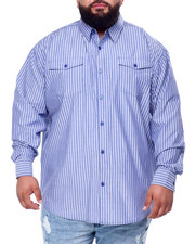 Big & Tall - Yarn Dyed Stripe L/S Woven (B&T)-2439408