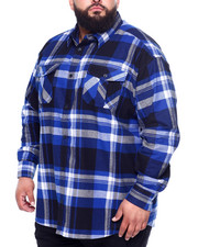 Men - Long Sleeve Flannel (B&T)-2439376